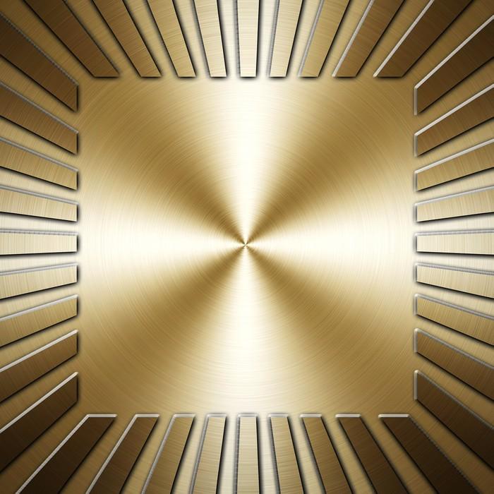 Fototapete Goldene Platte • Pixers® - Wir leben, um zu verändern