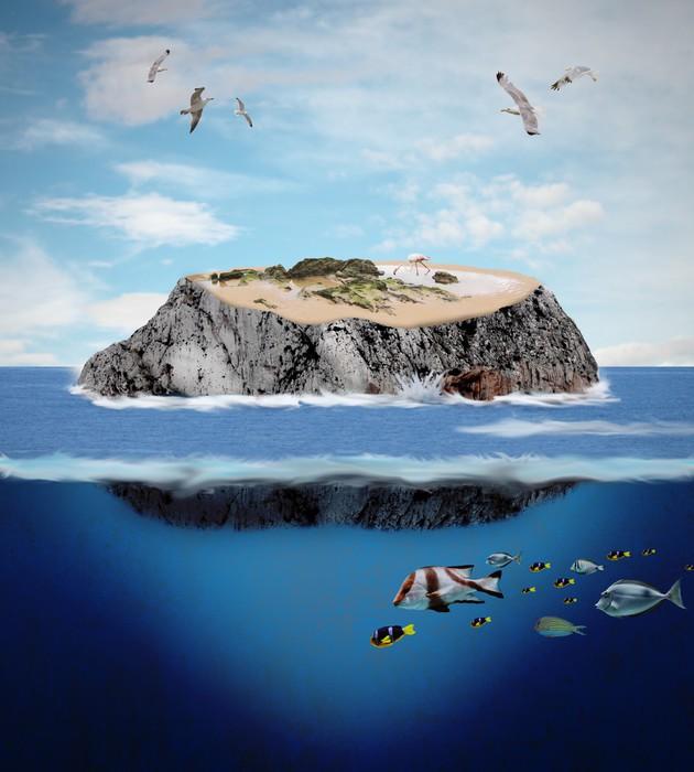 Vinylová Tapeta Ostrov - Ostrovy