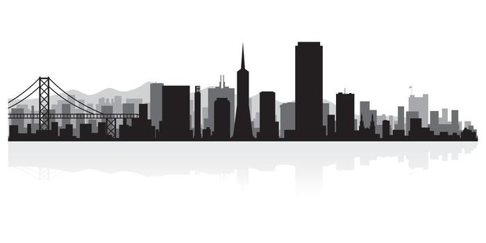 Vinylová Tapeta San Francisco panorama města siluetu - Amerika