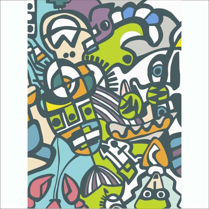 Papier peint mosa que abstraite de vecteur pixers - Papier peint mosaique ...