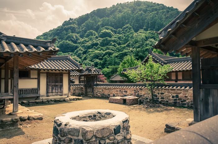 Vinylová Tapeta Tradiční asijské Village - Památky