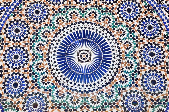 Vinylová fototapeta Orientální mozaika v Maroku, Severní Africe - Vinylová fototapeta