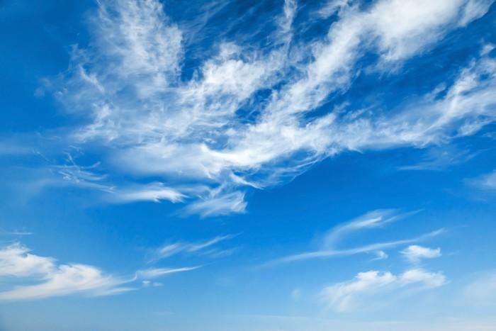 Vinylová Tapeta Přírodní modré zatažené obloze na pozadí textury - Nebe