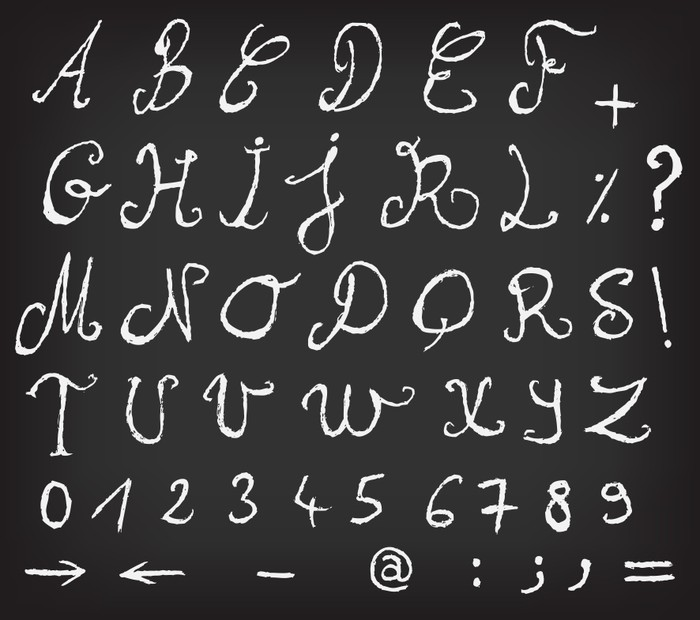 Papier Peint Tableau Noir papier peint hand drawn alphabet école tableau noir • pixers® - nous
