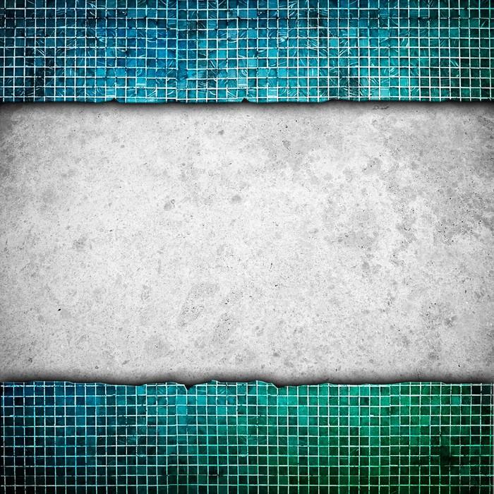 Fototapete Marmor mit Mosaik-Rahmen • Pixers® - Wir leben, um zu ...