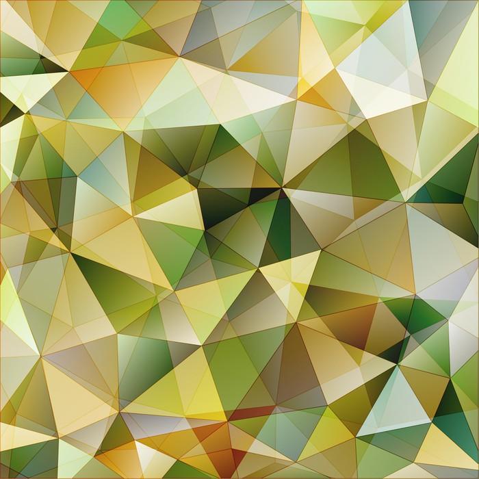 Vinylová Tapeta Barevný trojúhelník abstraktní pozadí - Témata