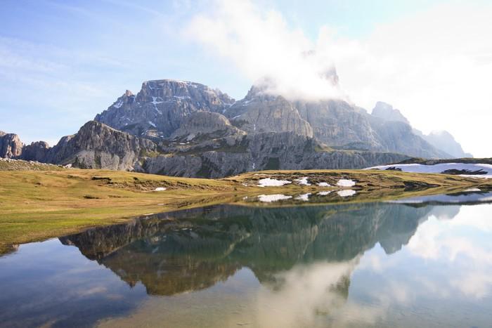 Fototapete Seen Von Den Plänen, Auf Der Hütte Locatelli (Dolomiten)