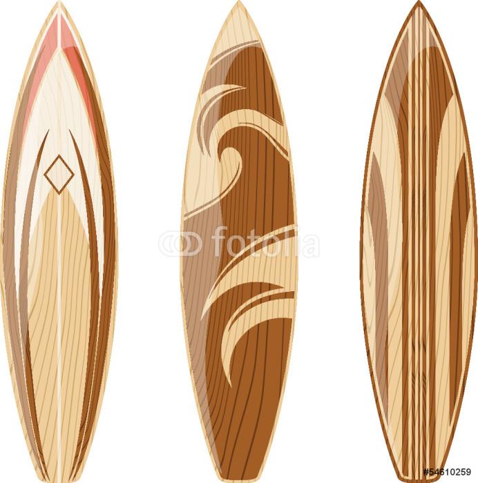 Vinilo pixerstick vector de tablas de surf de madera - Tablas de madera a medida ...