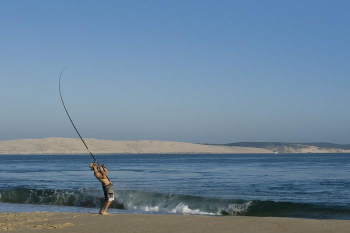 Vinylová Tapeta Rybář rybář pêcheur - Outdoorové sporty