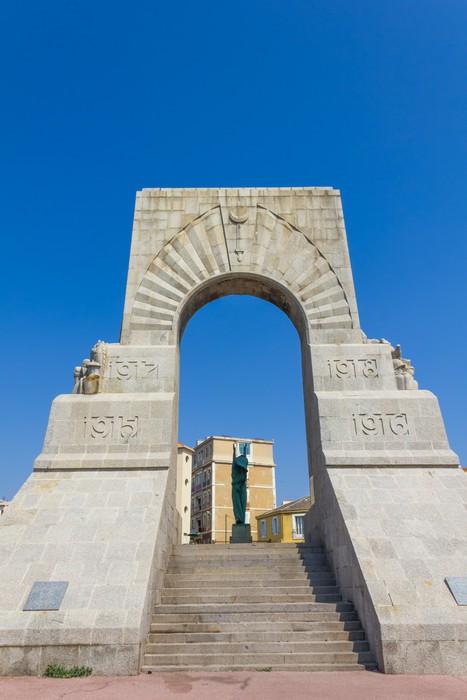 Vinylová Tapeta Historické válka památník v Marseille, Francie - Evropa