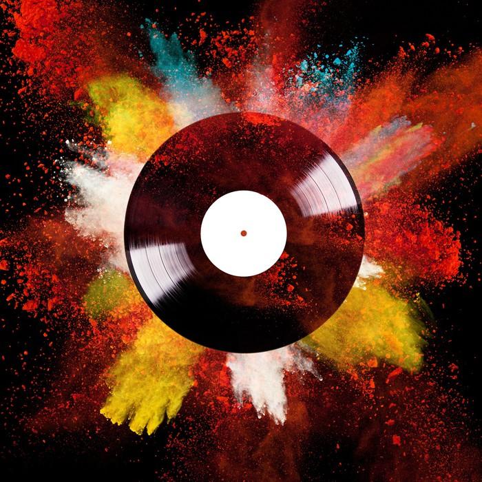 fototapete vinyl disc mit farbpulver pixers wir leben um zu ver ndern. Black Bedroom Furniture Sets. Home Design Ideas