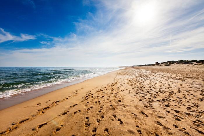 Vinylová Tapeta Beach s otisky - Prázdniny