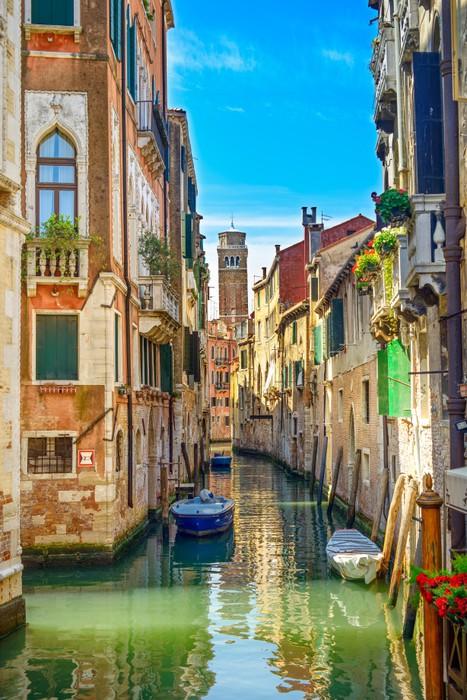 Carta da parati paesaggio urbano di venezia canale d for La parati italia