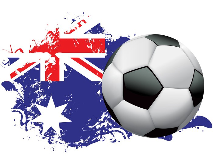 Sticker Pixerstick Australie football Conception grunge -