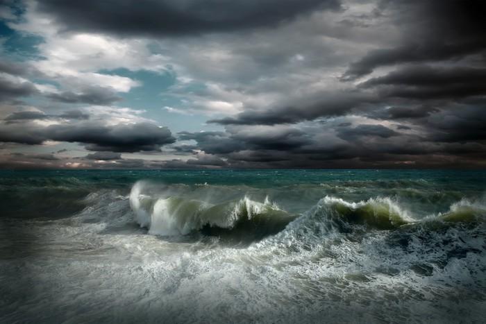 Vinylová Tapeta Zobrazit dešťové krajina - Přírodní katastrofy