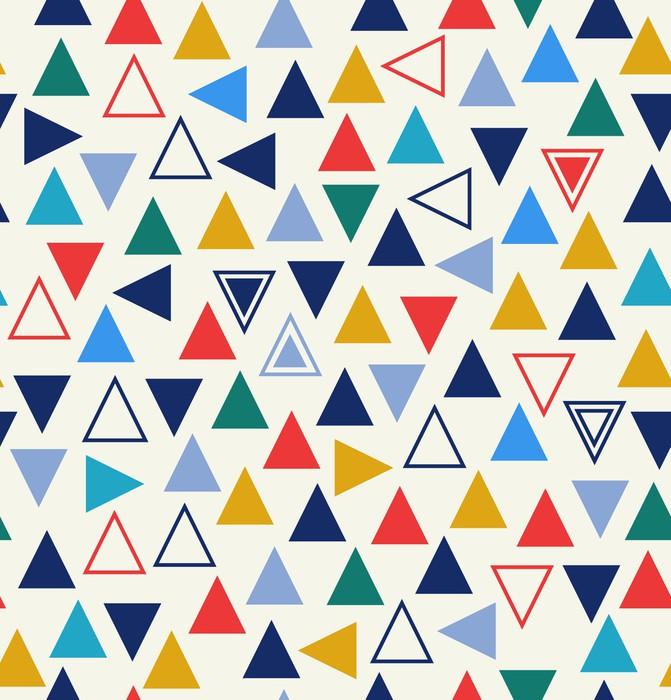 Sticker Pixerstick Motif géométrique parfaite avec des triangles - Styles