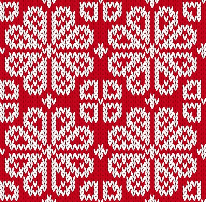 tableau sur toile motif tricot sans couture pixers. Black Bedroom Furniture Sets. Home Design Ideas