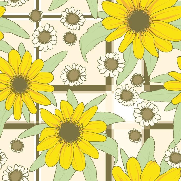 papier peint motif fleurs pixers nous vivons pour changer. Black Bedroom Furniture Sets. Home Design Ideas