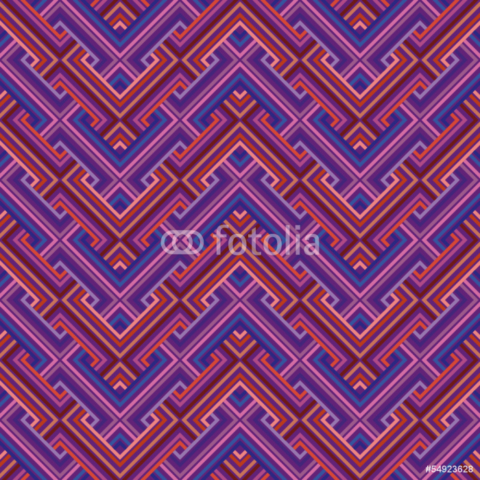Sticker Pixerstick Résumé ethnique seamless géométrique. Vector Illustration - Thèmes