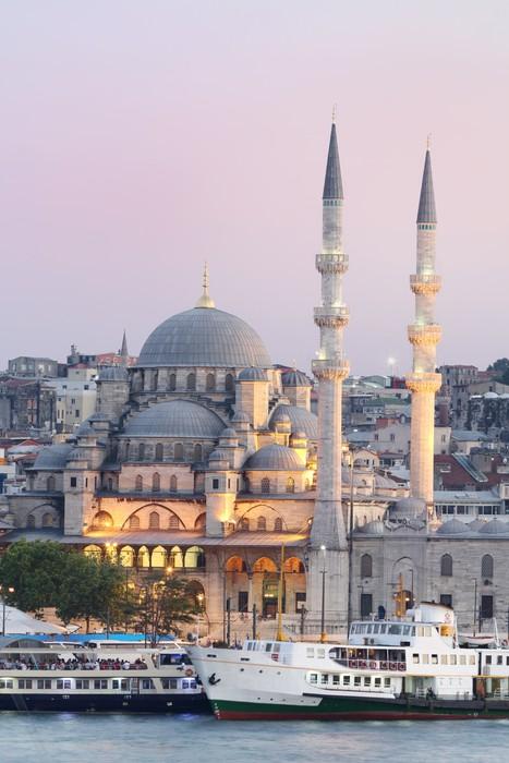 Sticker Pixerstick Nouvelle Mosquée à Istanbul en Turquie - Thèmes