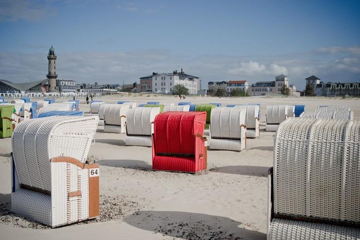 Vinylová Tapeta Warnemünde Strand 5 - Prázdniny