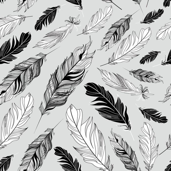 Pixerstick Aufkleber Grafik Textur von Federn - Stile