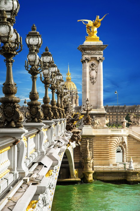 Vinylová Tapeta Pont Alexandre III Parigi - Evropská města