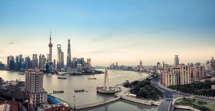 Vinylová fototapeta Shanghai Panorama - Vinylová fototapeta