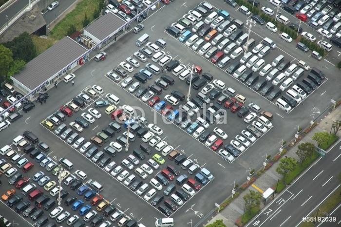 Vinylová Tapeta Parkovací místo v japonské Jokohamě - Město