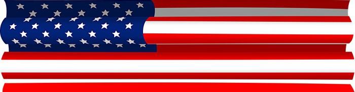 Vinylová Tapeta Znázornění pověšený americkou vlajku - Témata