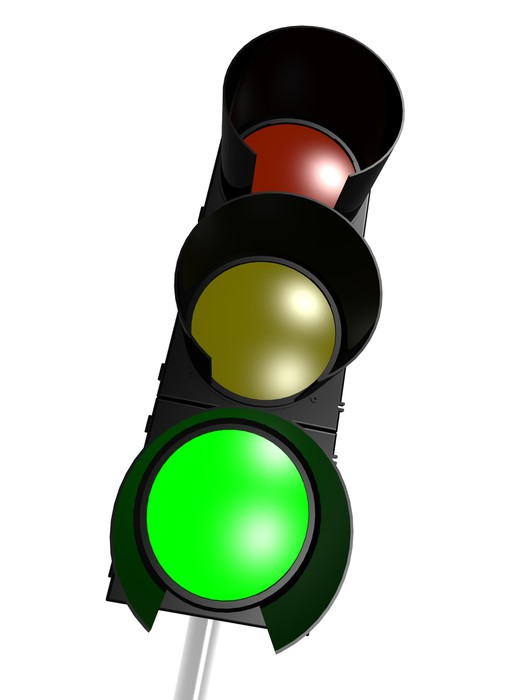 Traffic Light With Green On Wall Mural Pixers We Live To Change