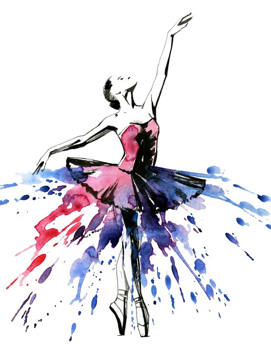 Ballerina wall mural pixers we live to change for Ballerina wall mural