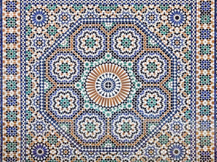 tableau sur toile mosa que oriental au maroc en afrique. Black Bedroom Furniture Sets. Home Design Ideas