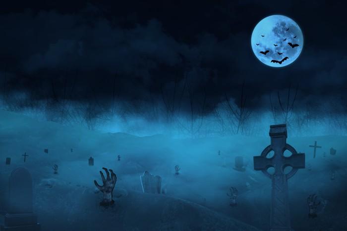 Vinylová Tapeta Spooky hřbitov - Témata