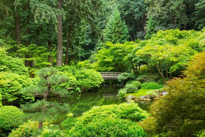 Tableau sur toile beau jardin japonais pixers nous - Tableau jardin japonais ...