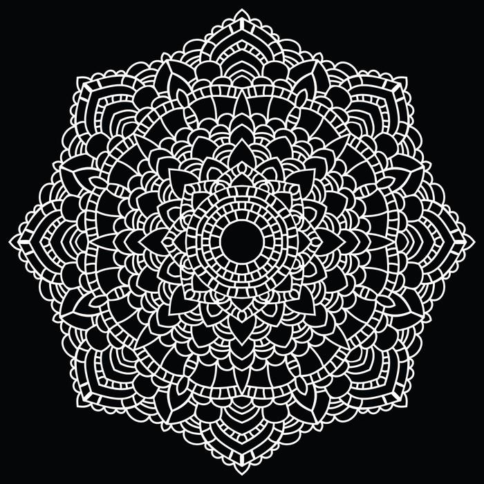 Round Lace Pattern Mandala Vinyl Wall Mural