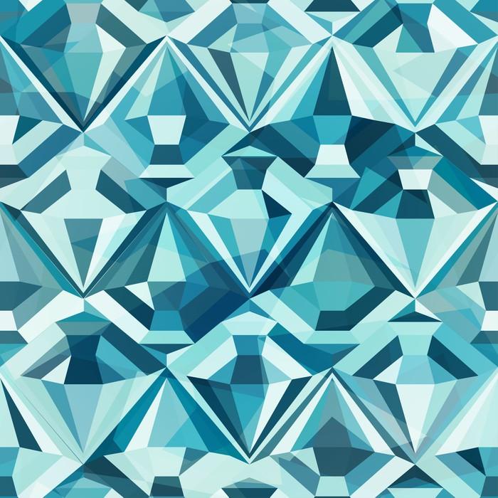 Papier peint Diamant de couleur froide, seamless • Pixers® - Nous ...