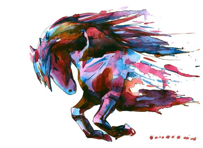 Papier peint cheval pixers nous vivons pour changer - Papier peint chevaux pour chambre ...