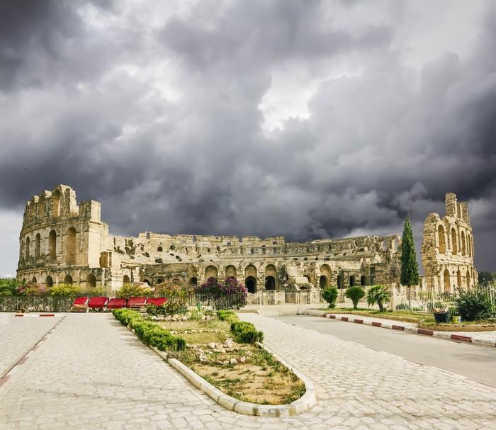 Vinylová Tapeta Druhy římského amfiteátru ve městě El Jem v Tunisku - Témata