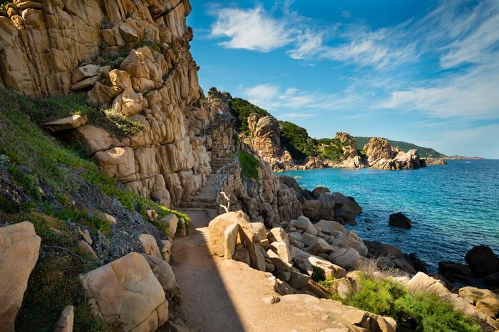Vinylová Tapeta Costa Paradiso Sardínie moře krajina - Evropa