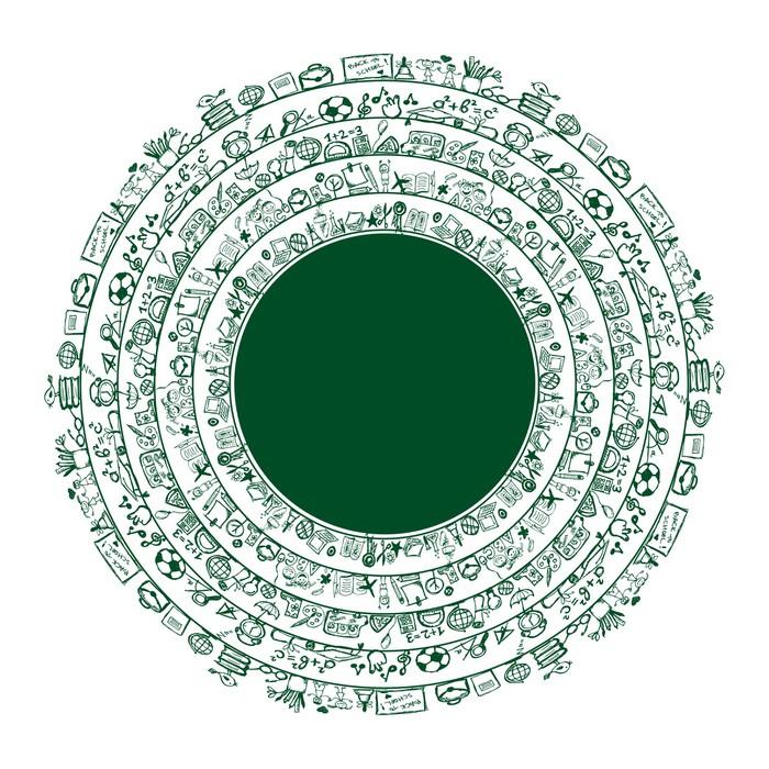 Fotomural Volver a la escuela, marco del círculo para su diseño ...