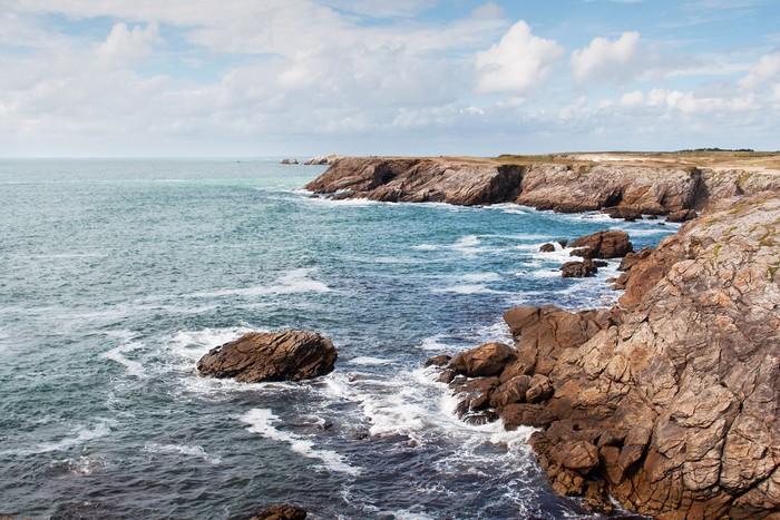 Vinylová Tapeta Útesy a oceán na pobřeží Quiberon - Voda
