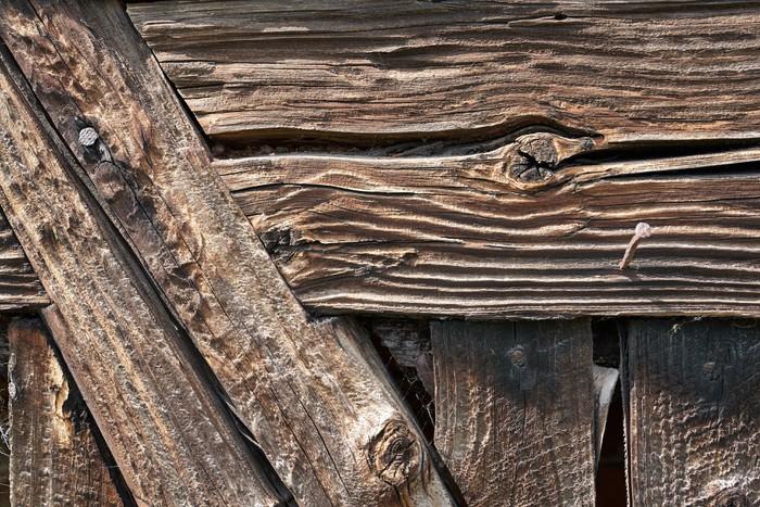 Vinylová fototapeta Ve věku dřevěné pozadí - Vinylová fototapeta