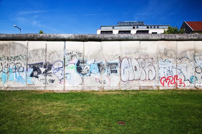Vinylová Tapeta Památník Berlínské zdi s graffiti. Gedenkstätte - Evropská města