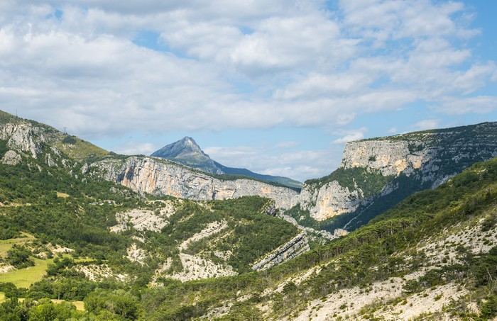 Vinylová Tapeta Gorges du Verdon - Hory