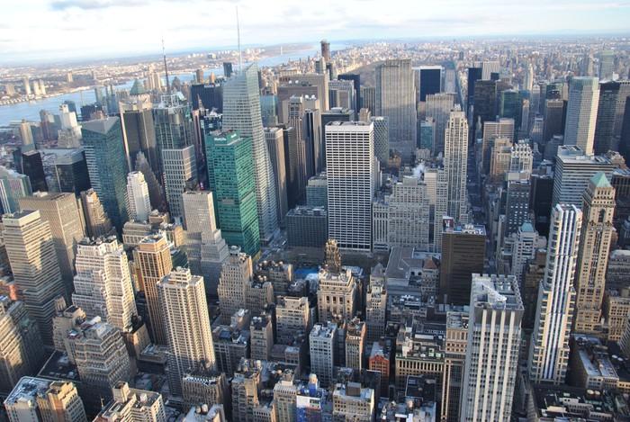 Adesivo new york dall 39 alto pixers viviamo per il for New york dall alto