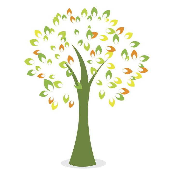 Vinylová Tapeta Abstract tree - Stromy
