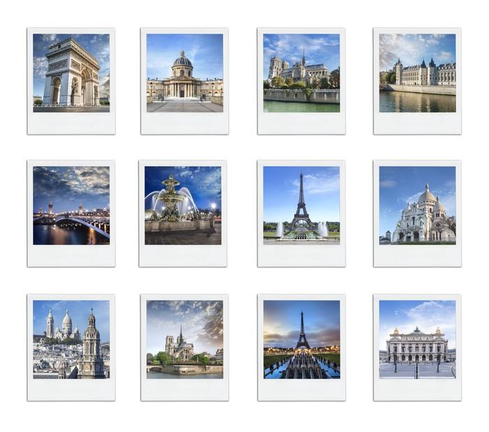 Vinylová Tapeta Paříž Francie Polaroid - Evropská města