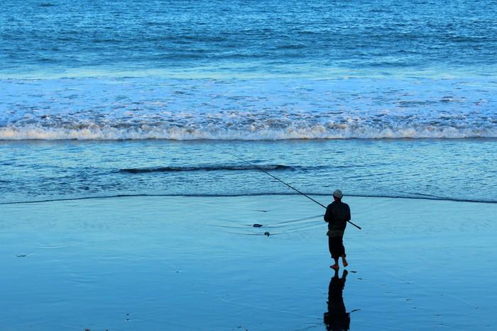 Vinylová Tapeta Rybář v Sanur - Bali - Asie