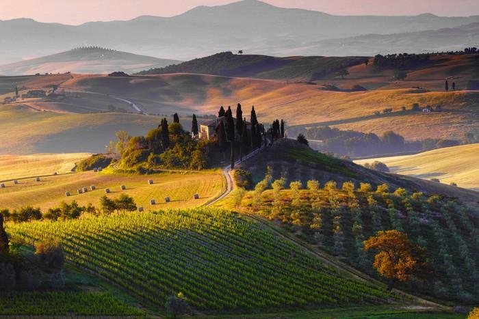 Vinylová Tapeta Toscana, paesaggio. Italia - Témata